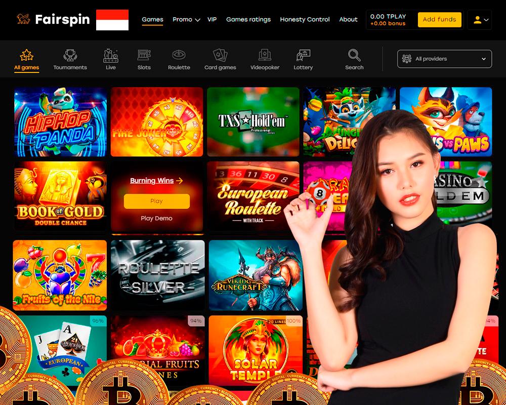 Permainan kasino bitcoin online
