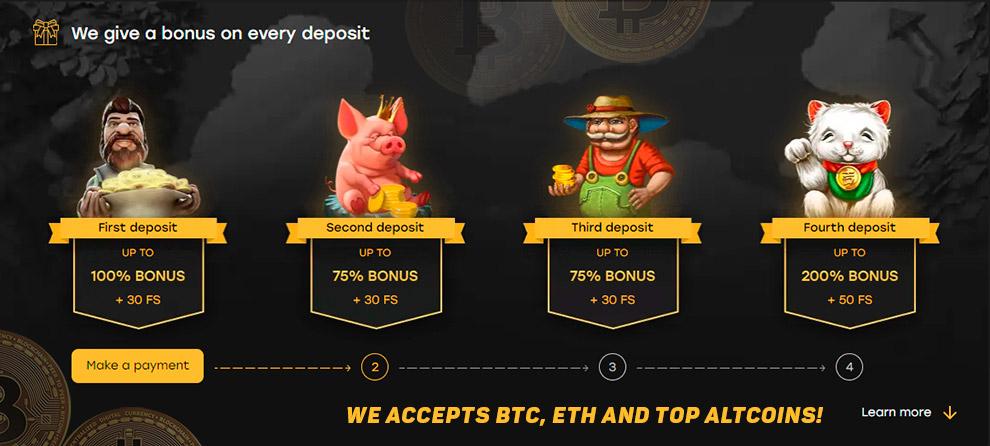 Bitcoin casino coin joli